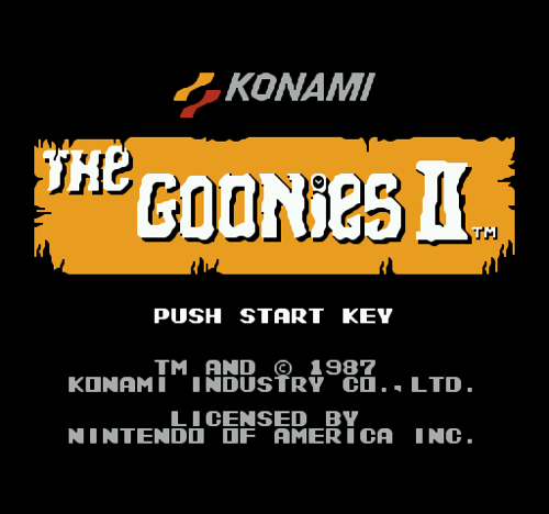 Goonies 2 Video Game