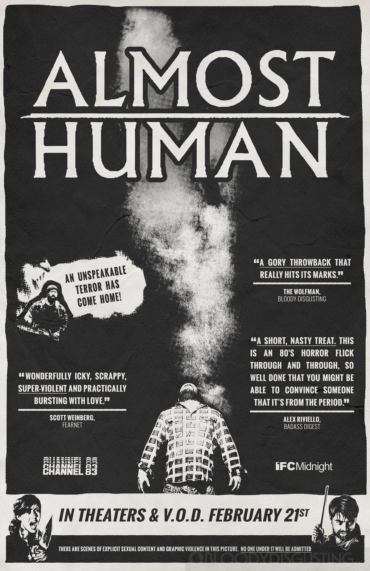 Trailer And Poster For Frightfest ALMOST HUMAN!