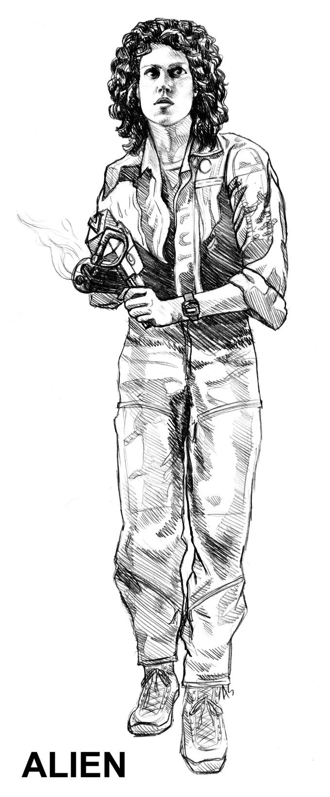 Ripley action figure concept art - NECA