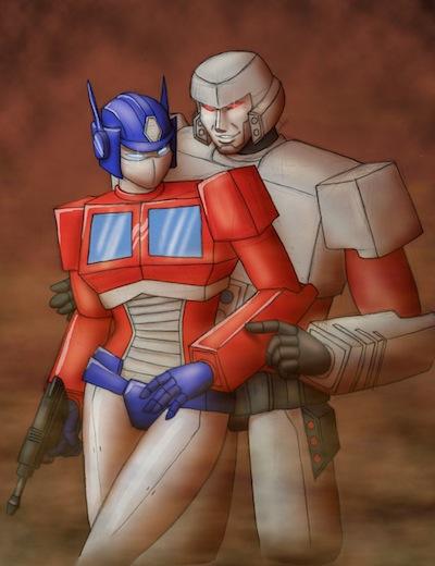 Optimus Prime Megatron Tender Moment
