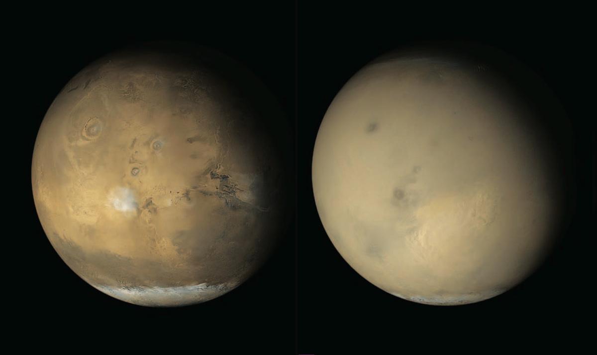 Mars dust comparison