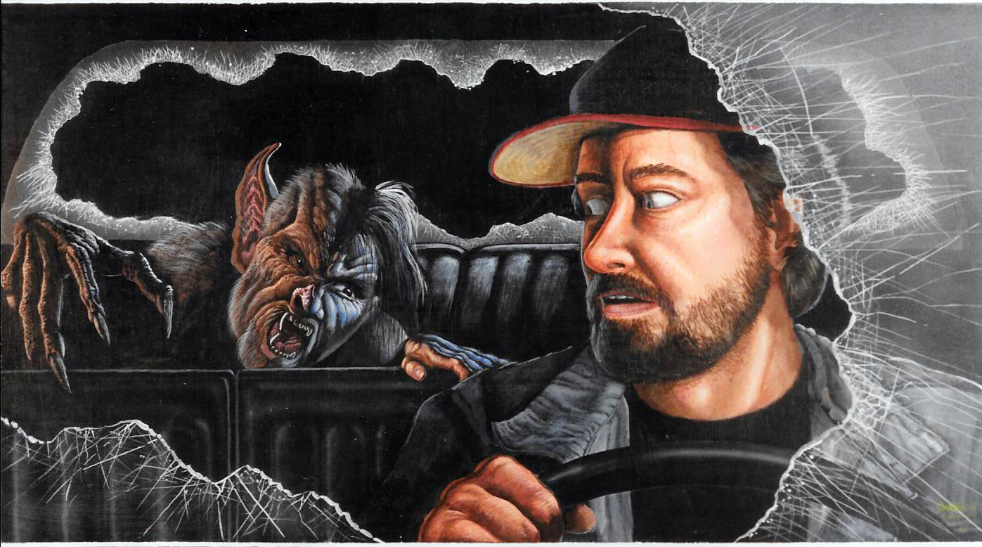 A painting Shannon did for Bob Kurtzman on FROM DUSK TIL DAWN