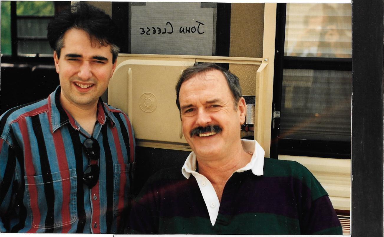 Shannon Shea with John Cleese on the set of JUNGLE BOOK