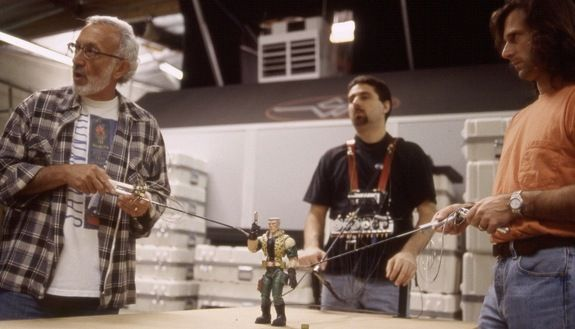 Cinematic Magician Stan Winston and company puppet a villain for SMALL SOLDIERS