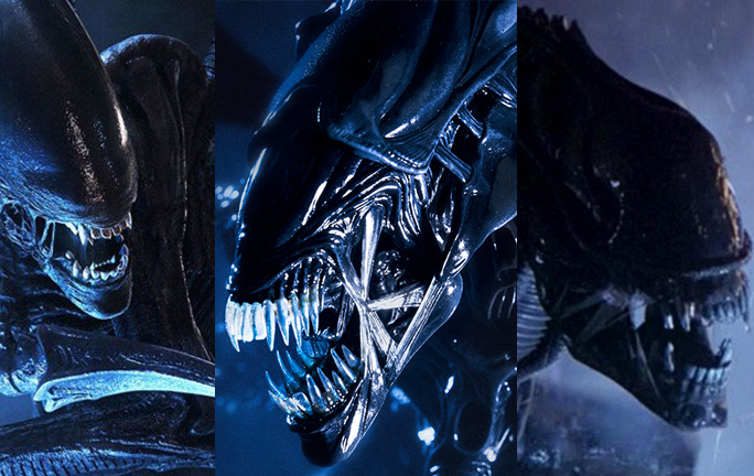 Xenomorphs from the ALIEN series