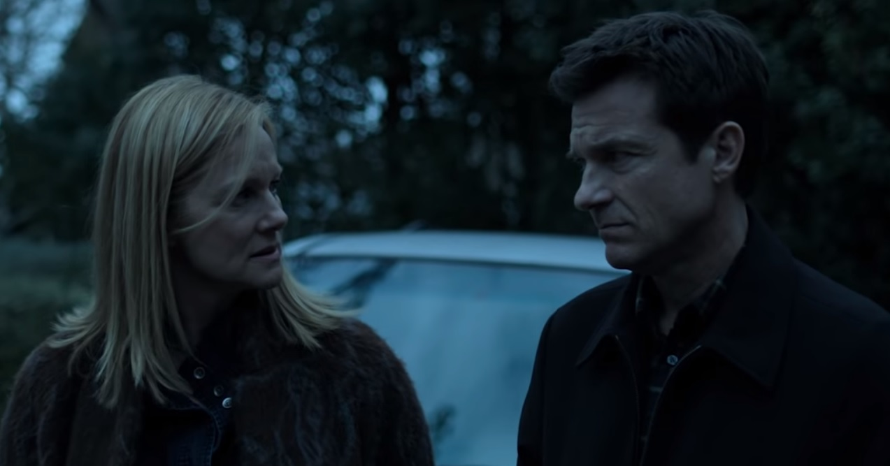 "Laura Linney and Jason Bateman in season 2 of ""Ozark"""