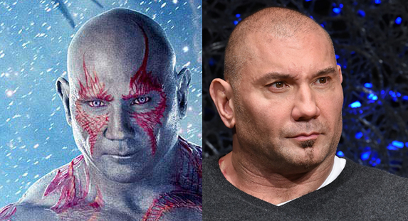 Dave Bautista as Drax, GUARDIANS OF THE GALAXY
