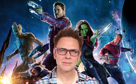 James Gunn and the cast of GUARDIANS OF THE GALAXY 3