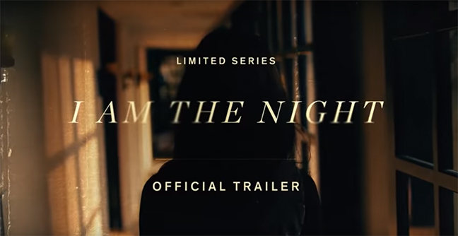 YouTube Screenshot of the I AM THE NIGHT title page