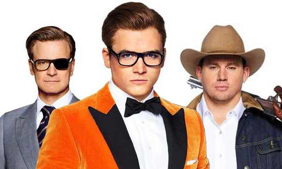 Colin Firth, Taron Egerton, and Channing Tatum