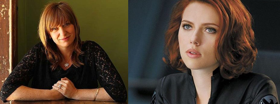 Cate Shortland and Scarlett Johansson of BLACK WIDOW