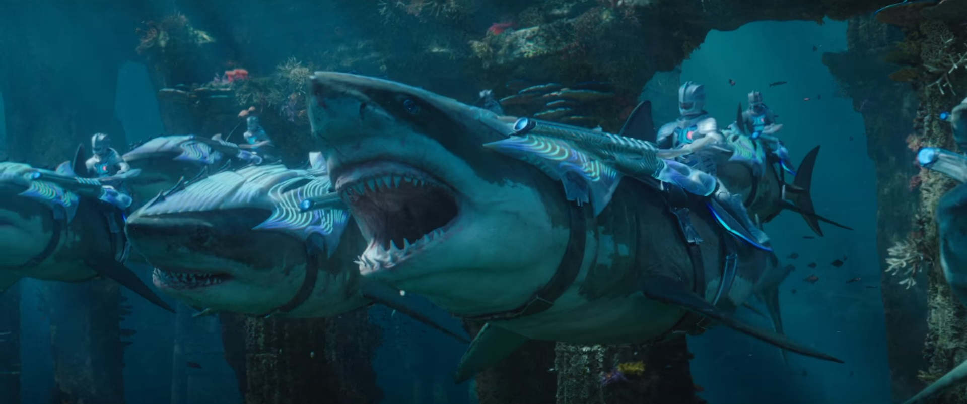 Atlanteans riding Sharks.