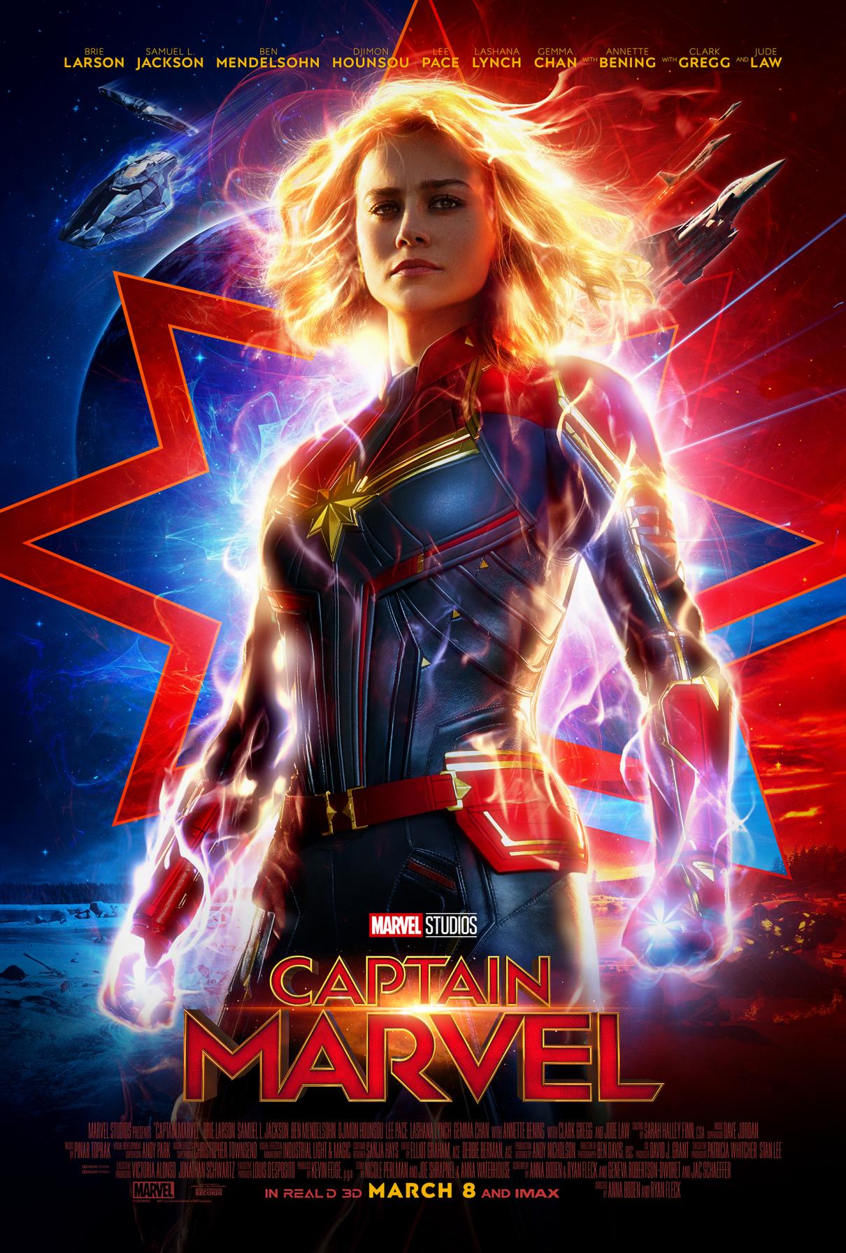 New poster for CAPT MARVEL starring Brie Larson
