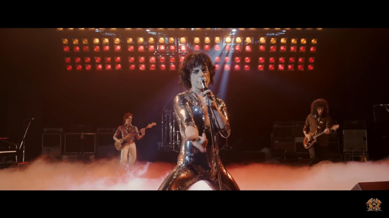 Rami Malek grabs you by the balls in BOHEMIAN RHAPSODY