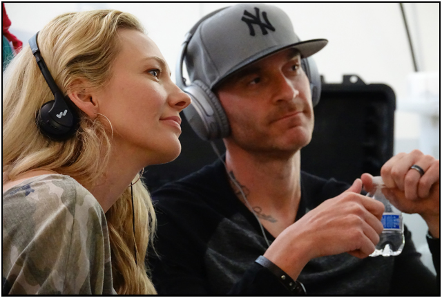 Heather DeVan and Jason DeVan on the set of ALONG CAME THE DEVIL 2