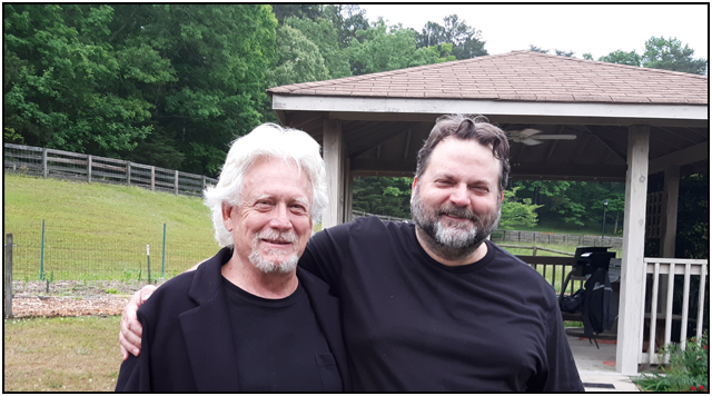 Bruce Davison and the author on the ALONG CAME THE DEVIL 2 location shoot
