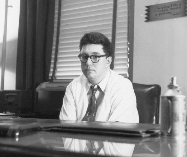 Bill Gaines, at his desk at EC Comics