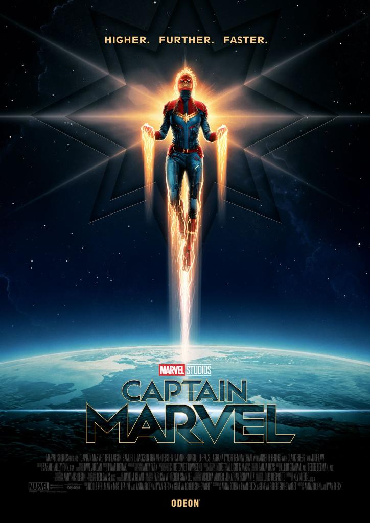 CApt MArvel Higher Further Faster poster