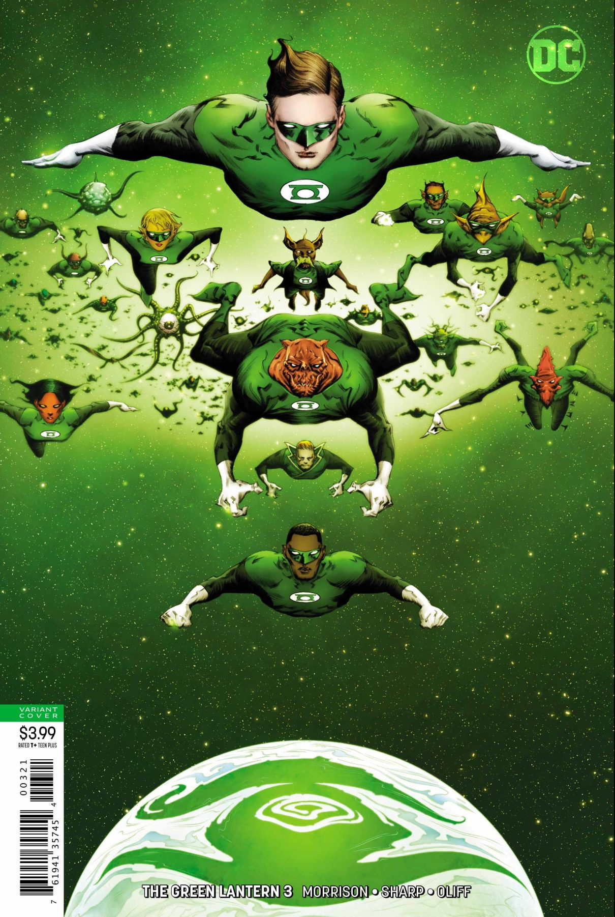 Green Lantern Corps in Morrison and Liam Sharps run