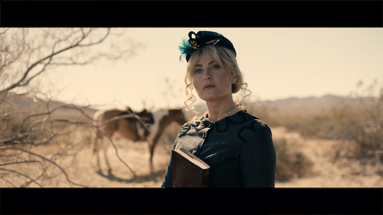 Scout Taylor-Compton as Annabelle Angel in the western/action film, APACHE JUNCTION, a Saban Films release. Photo courtesy of Saban Films.