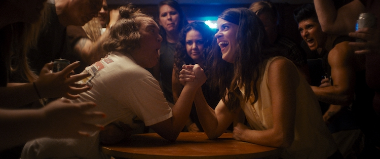 """(L - R) Betsy Sodaro as Danny and Mary Holland as Melanie in the comedy, """" GOLDEN ARM,"""" a Utopia Distribution release . Photo courtesy of Utopia Distribution"""