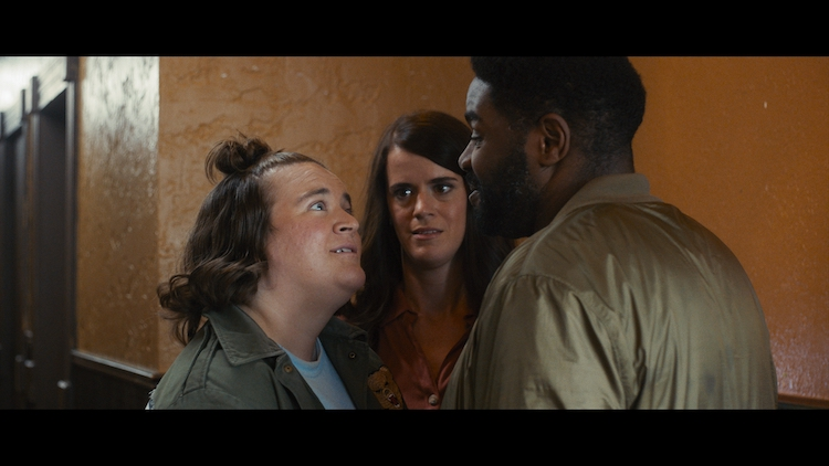 """(L - R) Betsy Sodaro as Danny, Mary Holland as Melanie and Ron Funches as Carl in the comedy, """" GOLDEN ARM,"""" a Utopia Distribution release . Photo courtesy of Utopia Distribution"""