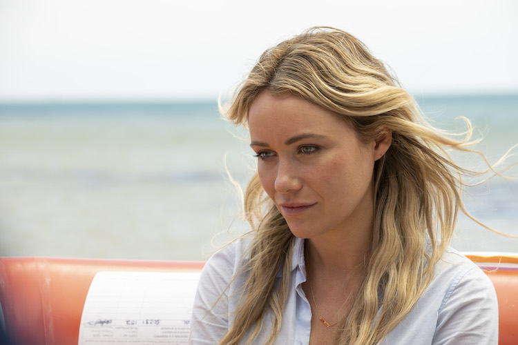 Katrina Bowden as Kaz in the action-adventure/thriller, GREAT WHITE, an RLJE Films and Shudder release. Photo courtesy of RLJE Films and Shudder.
