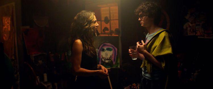 [L-R] Jared Gilman as Cy Berger and Aurora Perrineau as Roxy in the romantic comedy, IT TAKES THREE, a GUNPOWDER & SKY release. Photo courtesy of GUNPOWDER & SKY