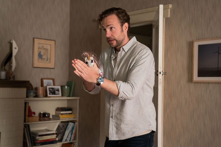 Rafe Spall as Teddy in the romantic comedy film, LONG STORY SHORT, a Saban Films release. Photo courtesy of Brook Rushton.