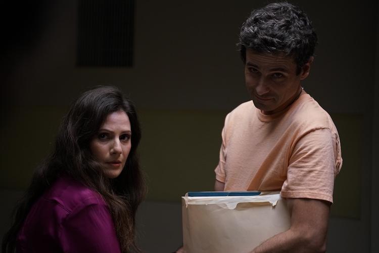 (L - R) Aleksa Palladino as Carolyn Lieberman and Luke Kirby as Ted Bundy in the drama/thriller, NO MAN OF GOD , an RLJE Films release. Photo courtesy of RLJE Films