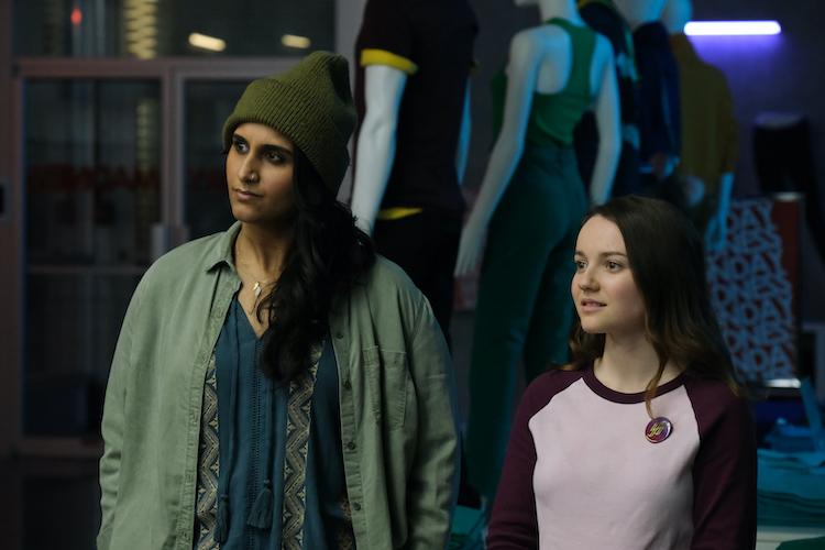(L - R) Sehar Bhojani and Romane Denis in SLAXX
