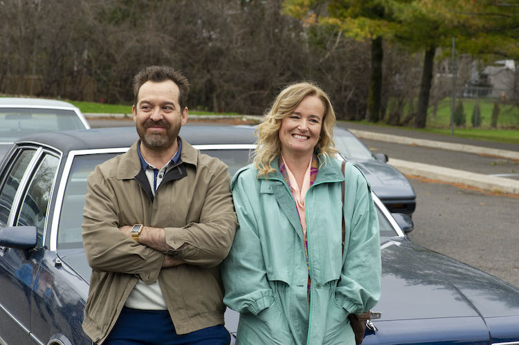 [L-R] Paul Braunstein as Glenn and Jennifer Irwin as Sheila in the comedy THE EXCHANGE,  a Quiver Distribution release. Photo courtesy of Quiver Distribution .