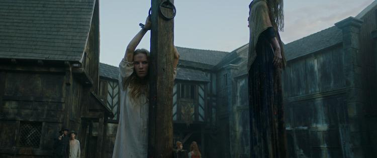 Charlotte Kirk as Grace Haverstock in the horror film, THE RECKONING, a RLJE Films/Shudder release. Photo courtesy of RLJE Films/Shudder