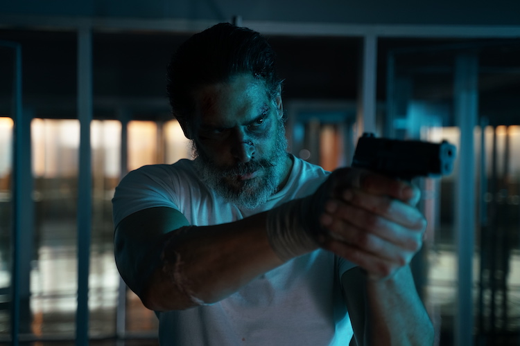 Joe Manganiello as Max Fist in the action/thriller film, ARCHENEMY , a RLJE Films release. Photo Courtesy of RLJE Films