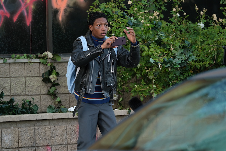 Skylan Brooks as Hamster in the action/thriller film, ARCHENEMY , a RLJE Films release. Photo Courtesy of RLJE Films
