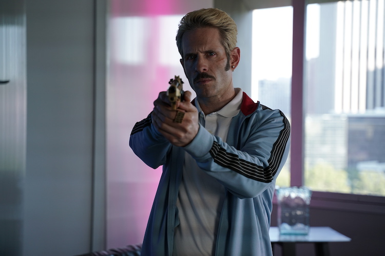 Glenn Howerton as The Manager in the action/thriller film, ARCHENEMY , a RLJE Films release. Photo Courtesy of RLJE Films