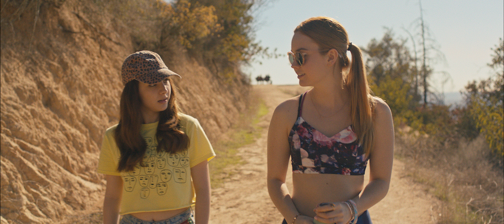 April (Hannah Marks) and Clara (Liana Liberato) become friends in BANANA SPLIT