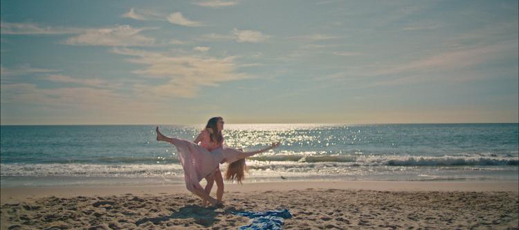 April (Hannah Marks) and Clara (Liana Liberato) become friends in BANANA SPLIT