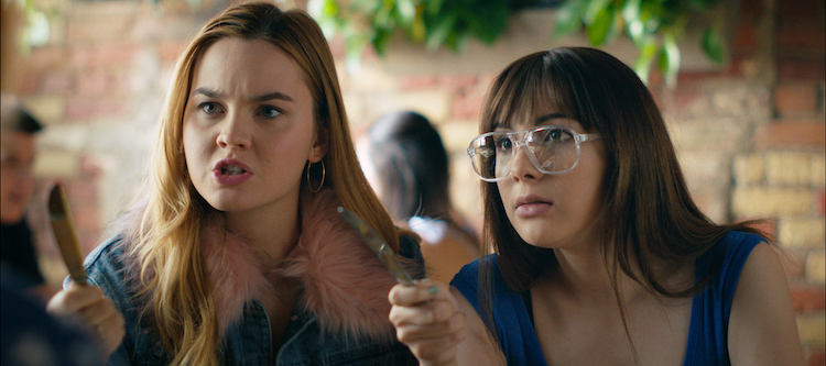 Liana Liberato and Hannah Marks in BANANA SPLIT