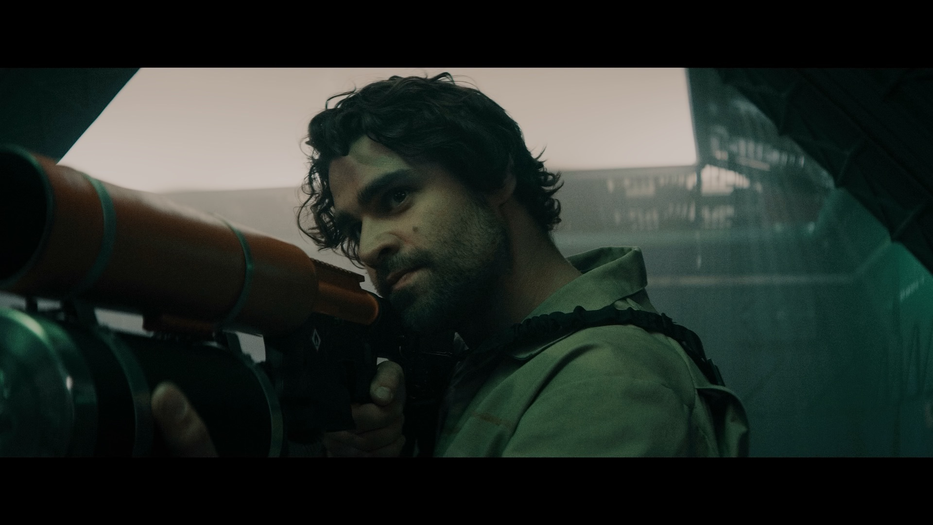 Cody Kearsley as Noah in the sci - fi/action film , BREACH , a Saban Films release . Photo courtesy of Saban Films
