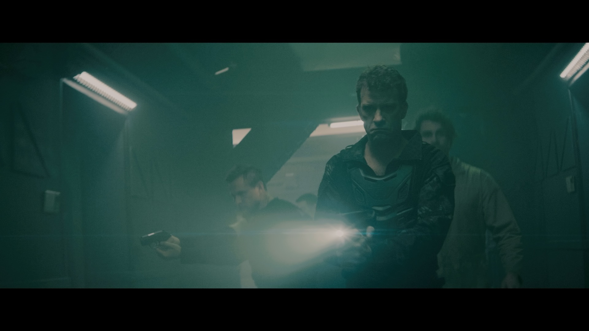 Thomas Jane as Admiral in the sc i - fi/action film , BREACH , a Saban Films release. Photo courtesy of Saban Films
