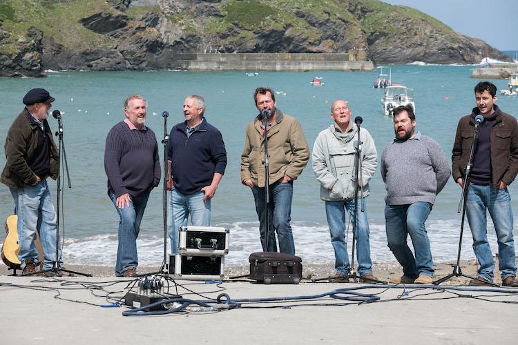 """Fisherman's Friends Band Members in the comedy/drama/musical film""""FISHERMAN'S FRIENDS,""""a Samuel Goldwyn Films release. Photo courtesy of Samuel Goldwyn Films"""