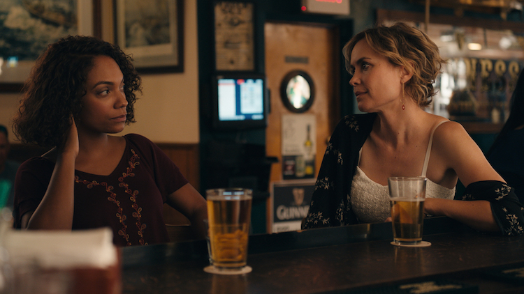 (L - R) Lyndie Greenwood and Radha Mitchell in THE WORLD WITHOUT YOU