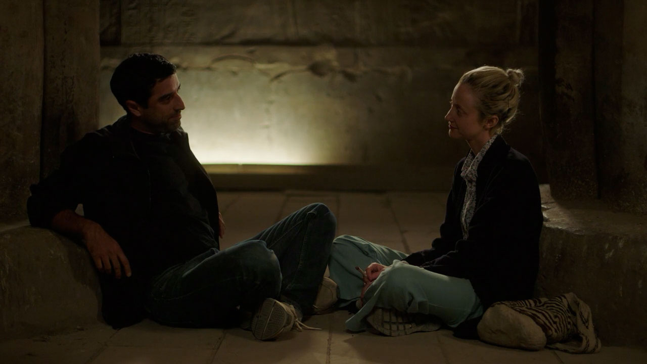 (L - R) Karim Saleh as Sultan and Andrea Riseborough as Hana in the drama/romance film LUXOR , a Samuel Goldwyn Films release. Photo courtesy of Samuel Goldwyn Films