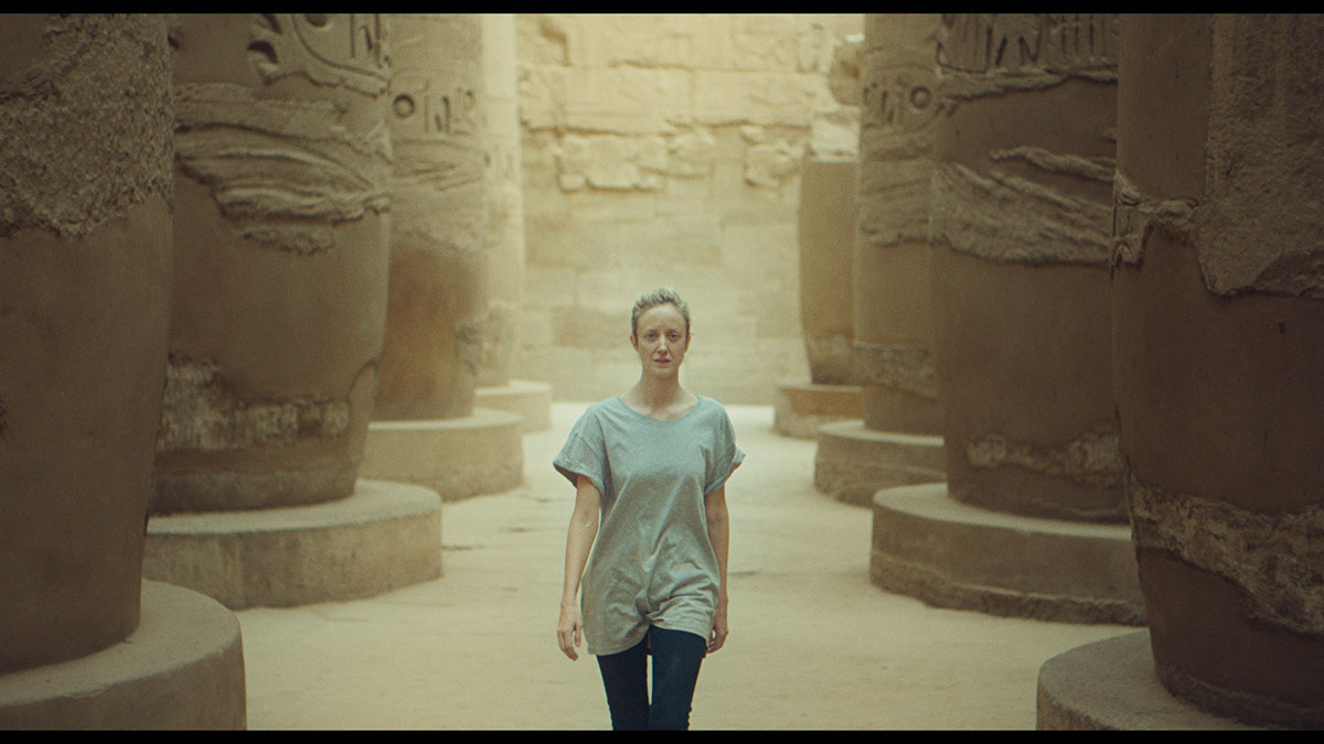 Andrea Riseborough as Hana in the drama/romance film LUXOR , a Samuel Goldwyn Films release. Photo courtesy of Samuel Goldwyn Film