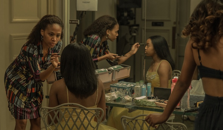 (L-R) Nicole Beharie as Turquoise and Alexis Chikaezeas Kai in the drama, MISS JUNETEENTH, a Vertical Entertainment release. Photo Courtesy of Vertical Entertainment