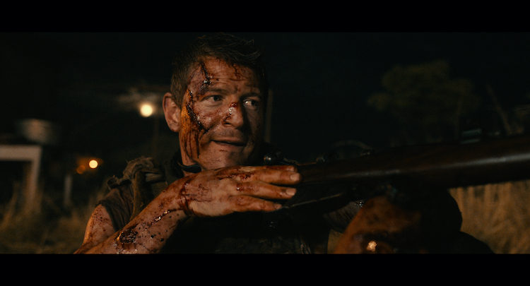 Philip Winchester as Joey Kasinski in the action/thriller film, ROGUE, a Lionsgate and Grindstone Entertainment Group, a Lionsgate Company release. Photo courtesy of Lionsgate