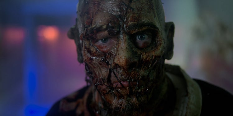 """Dustin Rhodes as Devil's Lake Impaler in the horror/comedy """" SCARE PACKAGE ,"""" a Shudder and RLJE F ilms release. Photo courtesy of Shudder and RLJE Films"""