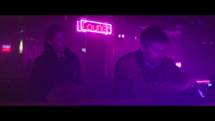 (L - R) Annabelle Wallis as Sheriff Alice Gustafson and Nikolaj Coster-Waldau as Rayburn Swanson in the thriller,  THE SILENCING , a Saban Films release. Photo Courtesy of Saban Films.