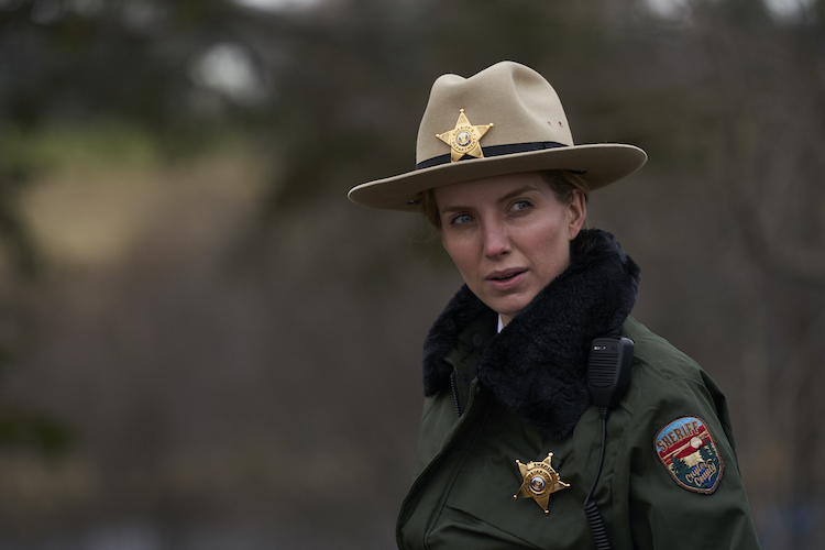 Annabelle Wallis as Sheriff Alice Gustafson in the thriller, THE SILENCING, a Saban Films release. Photo Courtesy of Saban Films.